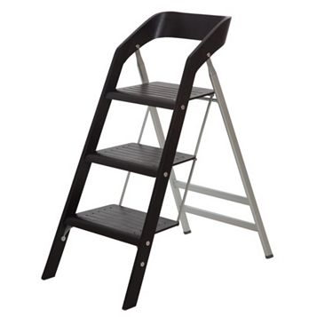 Abru 3 Tread Wood/Aluminium Step Stool, 1.175m