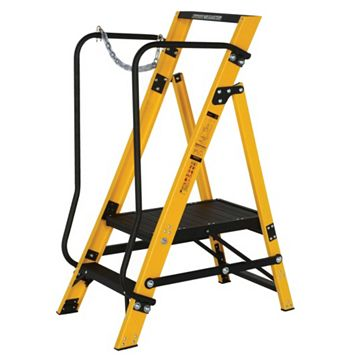 Werner 2 Tread Fibreglass Platform Stepladder, 1277mm