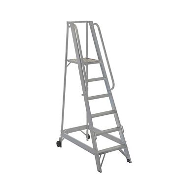Werner 6 Tread Aluminium Platform Stepladder, 2040mm