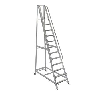 Werner 12 Tread Aluminium Platform Stepladder, 3500mm