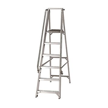 Werner 6 Tread Aluminium Platform Stepladder, 1860mm