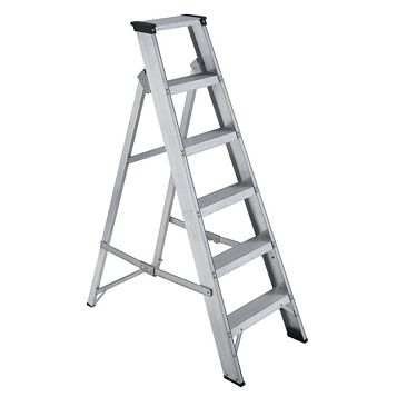 Werner 6 Tread Aluminium Swing Back Stepladder, 1.3 M