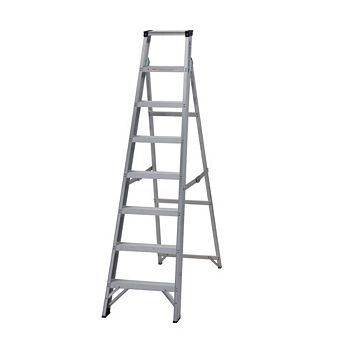 Werner 8 Tread Aluminium Swingback Stepladder, 1750mm