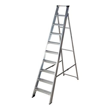 Werner 10 Tread Aluminium Swingback Stepladder, 2200mm