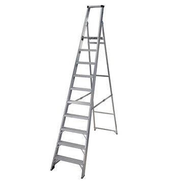 Werner 10 Tread Aluminium Platform Stepladder, 2750mm