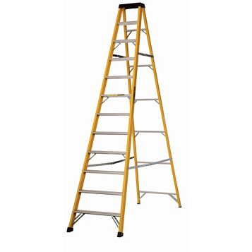 Werner 12 Tread Fibreglass Swingback Stepladder, 3340mm