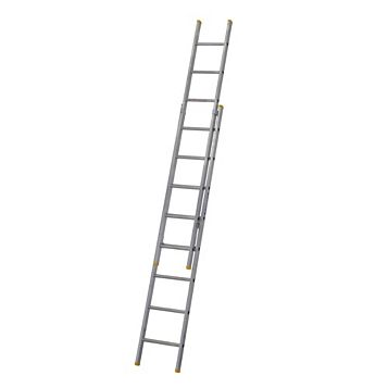 Werner Aluminium & Plastic-Way Trade Extension Ladder, (H)4.07M
