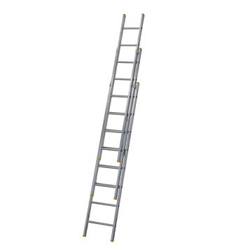 Werner Aluminium & Plastic-Way Trade Extension Ladder, (H)5.17M