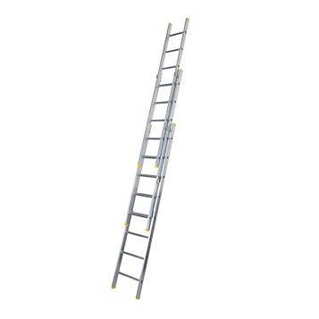 Werner Aluminium & Plastic-Way Trade Extension Ladder, (H)6.85M