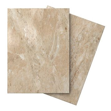 Illusion Mocha Marble Effect Ceramic Wall & Floor Tile, Pack of 10, (L)360mm (W)275mm
