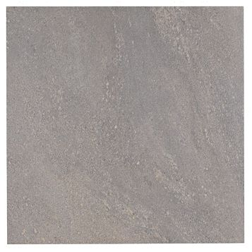Antayla Grey Stone Porcelain Floor Tile, Pack of 3, (L)600mm (W)600mm