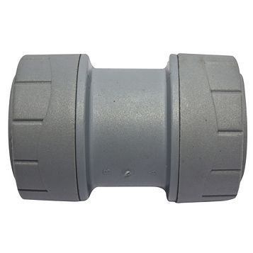 Polyplumb Push Fit Straight Coupler (Dia)28 mm