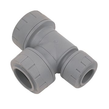 Polyplumb Push Fit Reducing Tee (Dia)22 mm