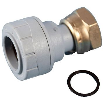 Polyplumb Push Fit Straight Tap Connector (Dia)22 mm