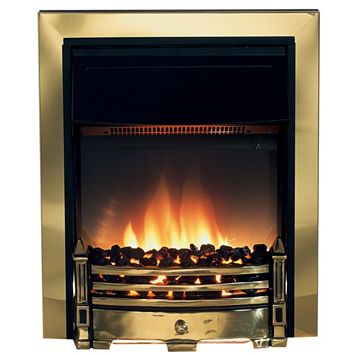Dimplex Whitsbury Brass Electric Inset Electric Fire