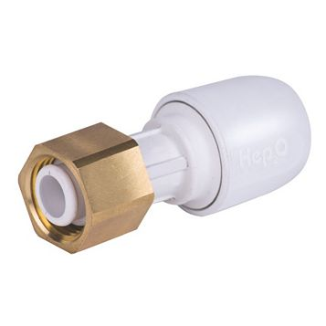 Hep2O Push Fit Straight Tap Connector (Dia)15 mm