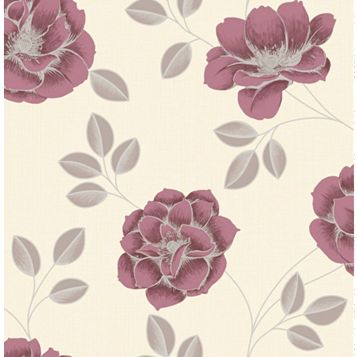 Superfresco Red Floral Wallpaper