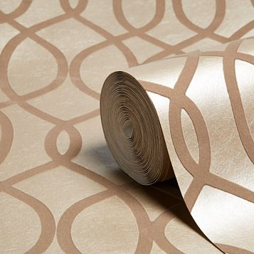 Kelly Hoppen Taupe Geo Wallpaper