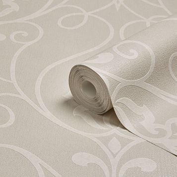 Superfresco Easy Cream Trellis Damask Wallpaper