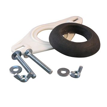 Euroflo Black & White Plastic, Metal & Rubber Coupling Kit For Close Coupled Cisterns