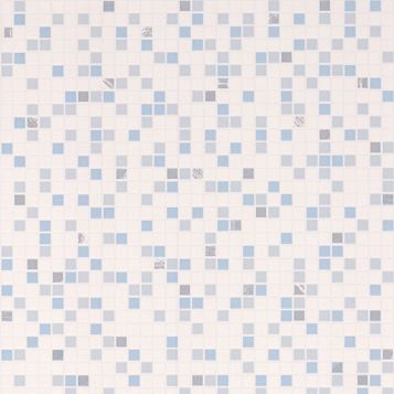 Checker Blue Tile Wallpaper