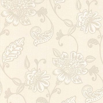 Juliet White Floral Wallpaper