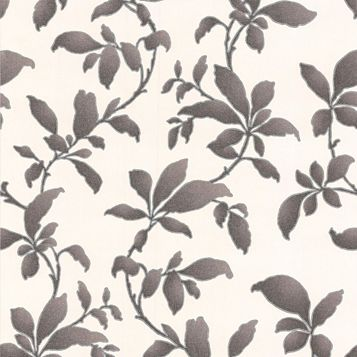 Sarra Black Leaves Wallpaper