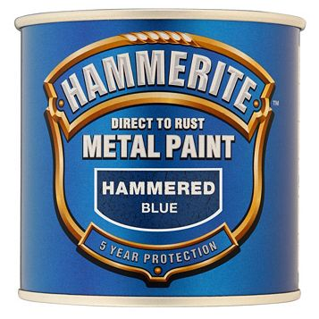 Hammerite Metal Paint Hammered Effect Blue, 250ml