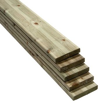 Premium Softwood Reversible Deck Board (W)144mm (L)2400mm (T)28mm, Pack of 5