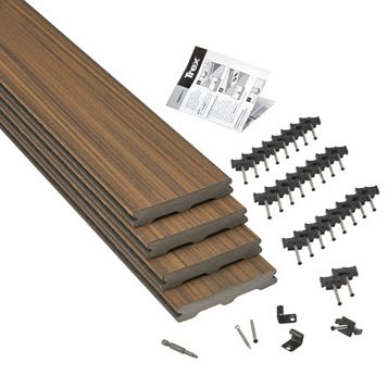 Trex® Torino Brown Composite Deck Board (W)140mm (L)2400mm (T)24mm, Pack of 4