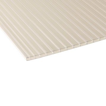 Ariel Corotherm Twinwall Polycarbonate Roofing Sheet, Clear 16mm 76225