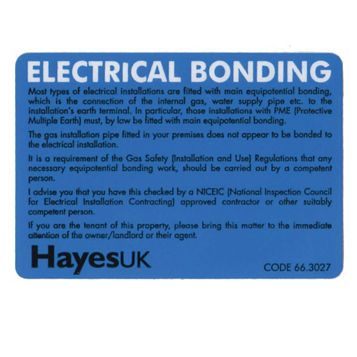 Electrical Bonding Labels (W)60mm