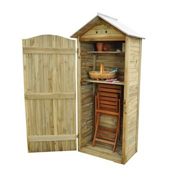 Outdoor Small Storage 3' x 1'9'' Approx Shiplap Pressure Treated Wood Tall Garden Store