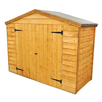 Outdoor Small Storage 6'10'' x 2'8'' Approx Overlap Dip Treated Wood Timber Bike Store