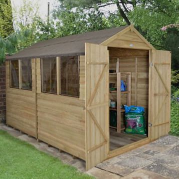 Forest 8X10 Apex Overlap Wooden Shed - Assembly Required