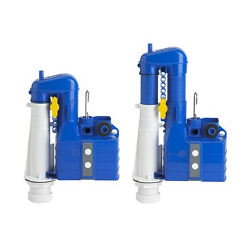 Thomas Dudley Blue & White Dual Flush Turbo Siphon