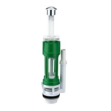 Thomas Dudley 686372 Green & White Dual Flush Outlet Valve (H)408mm (W)95mm (L)120mm