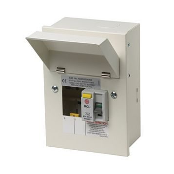 Wylex Metal 63A 2-Way Consumer Unit