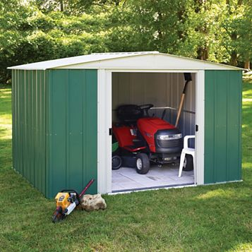 Greenvale 10X8 Apex Metal Shed - Assembly Required