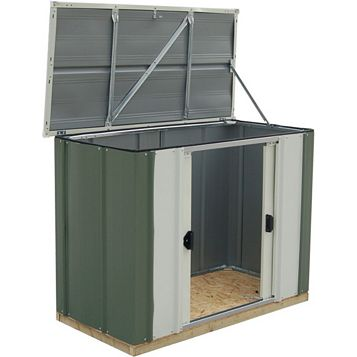 Greenvale 4X2 Pent Metal Shed - Assembly Required