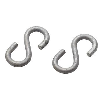 Eliza Tinsley Galvanised Steel S Hooks, Pack of 2
