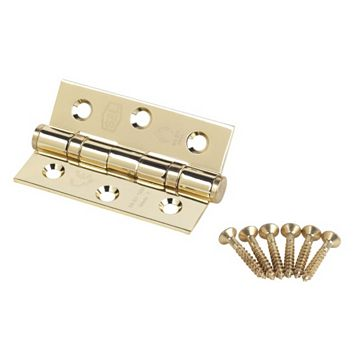 Electro Plated Brass Grade 7 Fire Door Hinge (L)76mm, Pack of 2