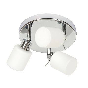 Luxor White Chrome Effect 3 Lamp Spotlight