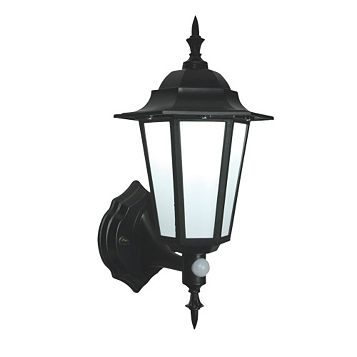 Evesham Black External LED PIR Coach Lantern