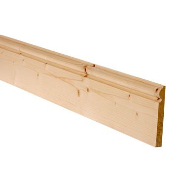 Metsä Wood Untreated Torus Skirting (L)2400mm (W)119mm (T)15mm