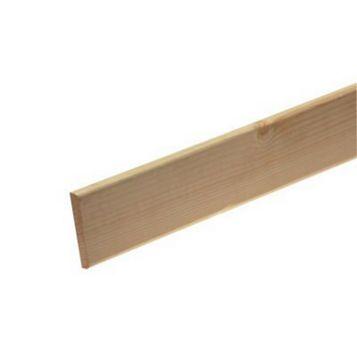 Metsäwood Untreated R2A Softwood Redwood Skirting, 69.0 x 2100mm