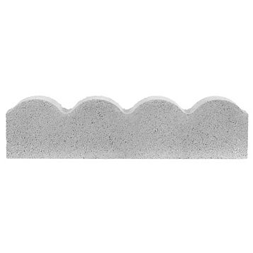 Traditional Scalloped Paving Edging Grey, (L)600mm (H)150mm (T)50mm
