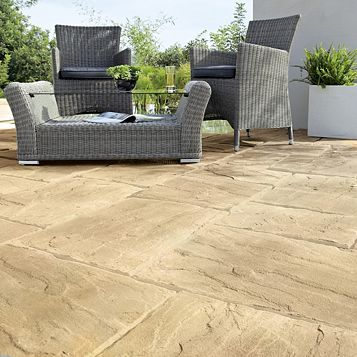 Bradstone Reconstituted Stone Mixed Size Paving Pack, 10 m²
