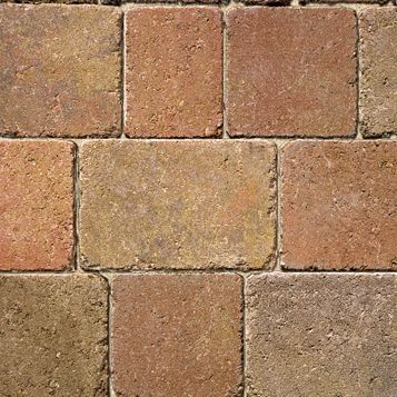 Autumn Woburn Rumbled Block Paving (L)100mm (W)134mm, Pack of 672, 8.98 m²