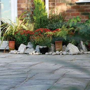 Ancestry Reconstituted Stone Paving Slab, 12.27 m², (L)450mm (W)450mm (T)35mm